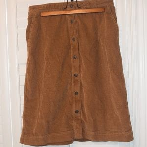 GAP Button front corduroy midi skirt